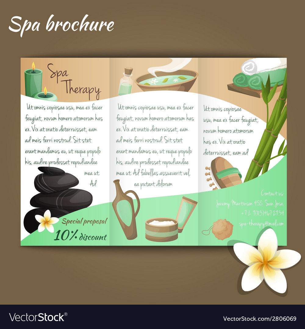 Spa salon brochure vector | Price: 1 Credit (USD $1)