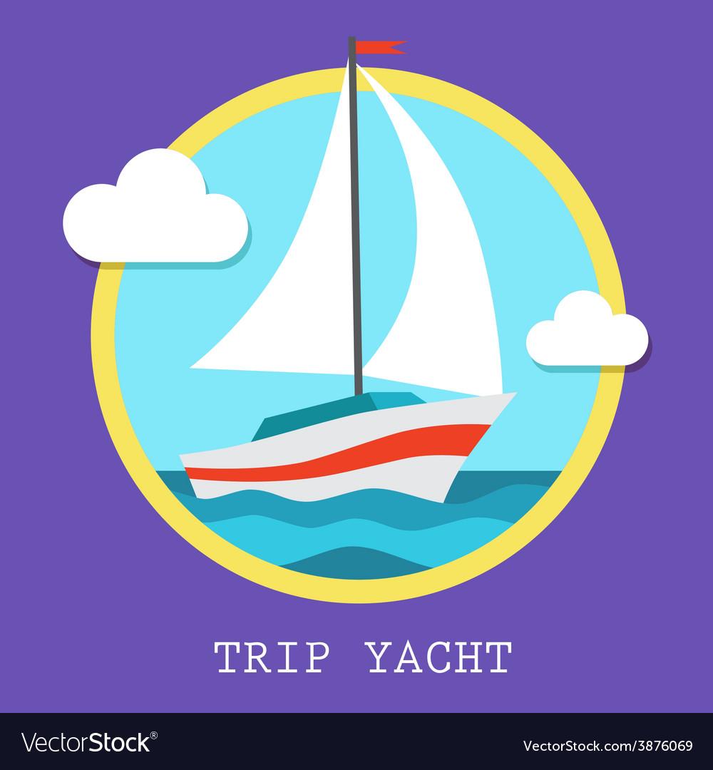 Yacht club team art vector | Price: 1 Credit (USD $1)