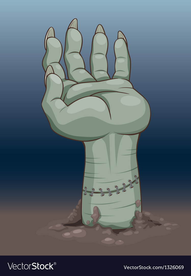 Zombie hand vector | Price: 1 Credit (USD $1)
