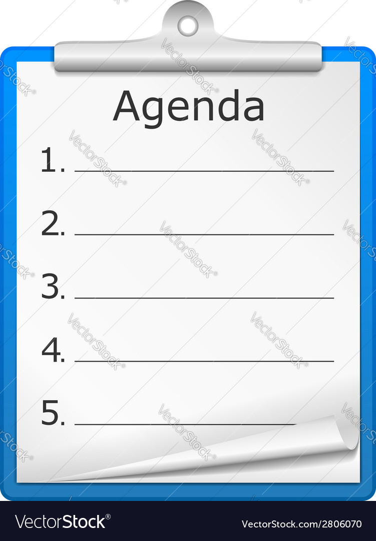 Agenda on clipboard vector | Price: 1 Credit (USD $1)