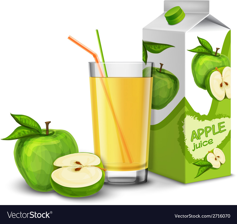 Apple juice set vector | Price: 3 Credit (USD $3)