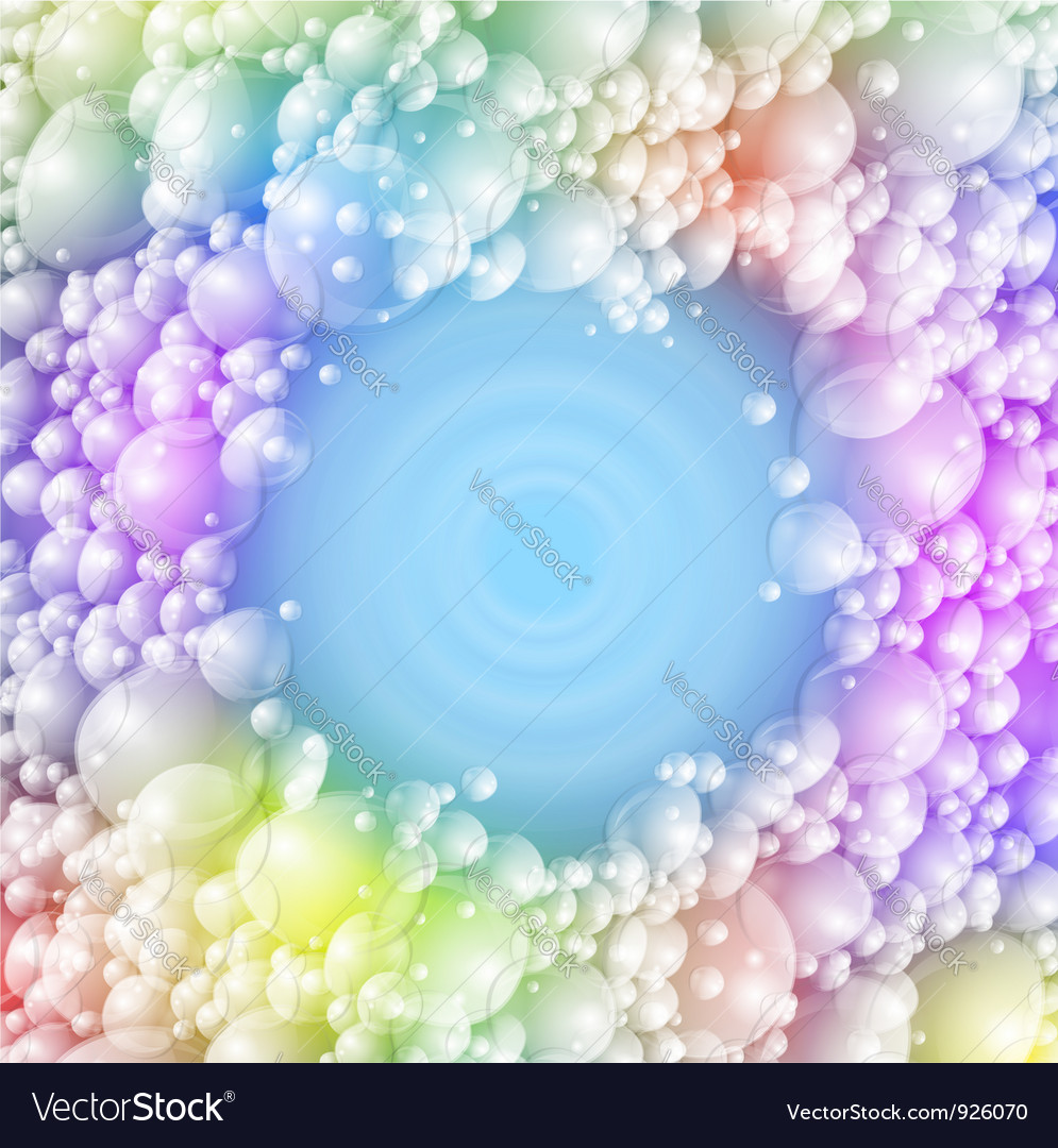 Colorful foam vector | Price: 3 Credit (USD $3)