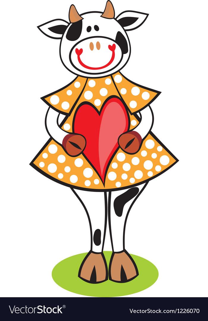 Cow heart vector | Price: 3 Credit (USD $3)
