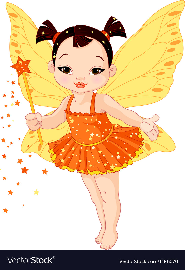 Cute asian baby fairy vector | Price: 5 Credit (USD $5)