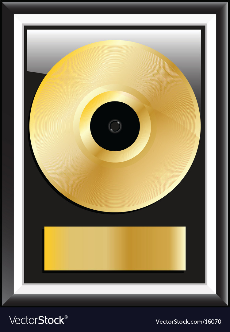 Gold vinyl disc vector | Price: 1 Credit (USD $1)