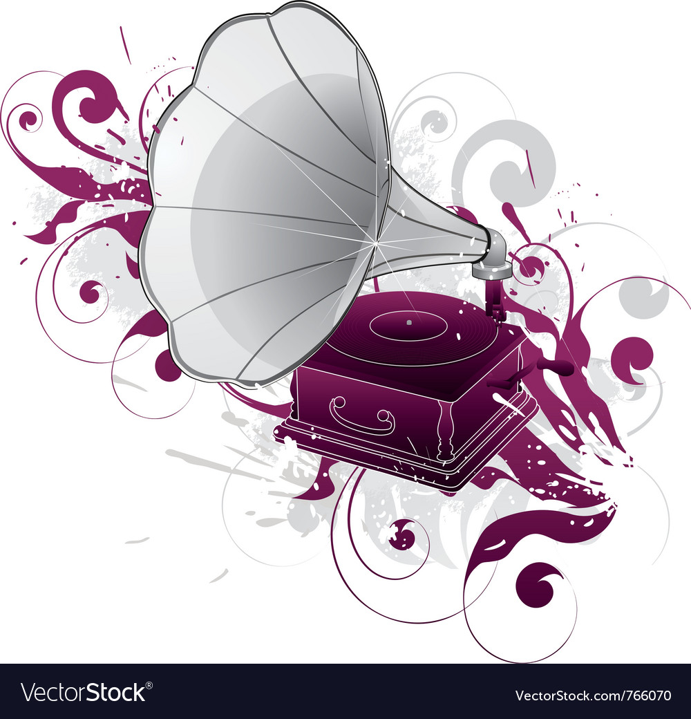 Gramophone phonograph vector | Price: 1 Credit (USD $1)