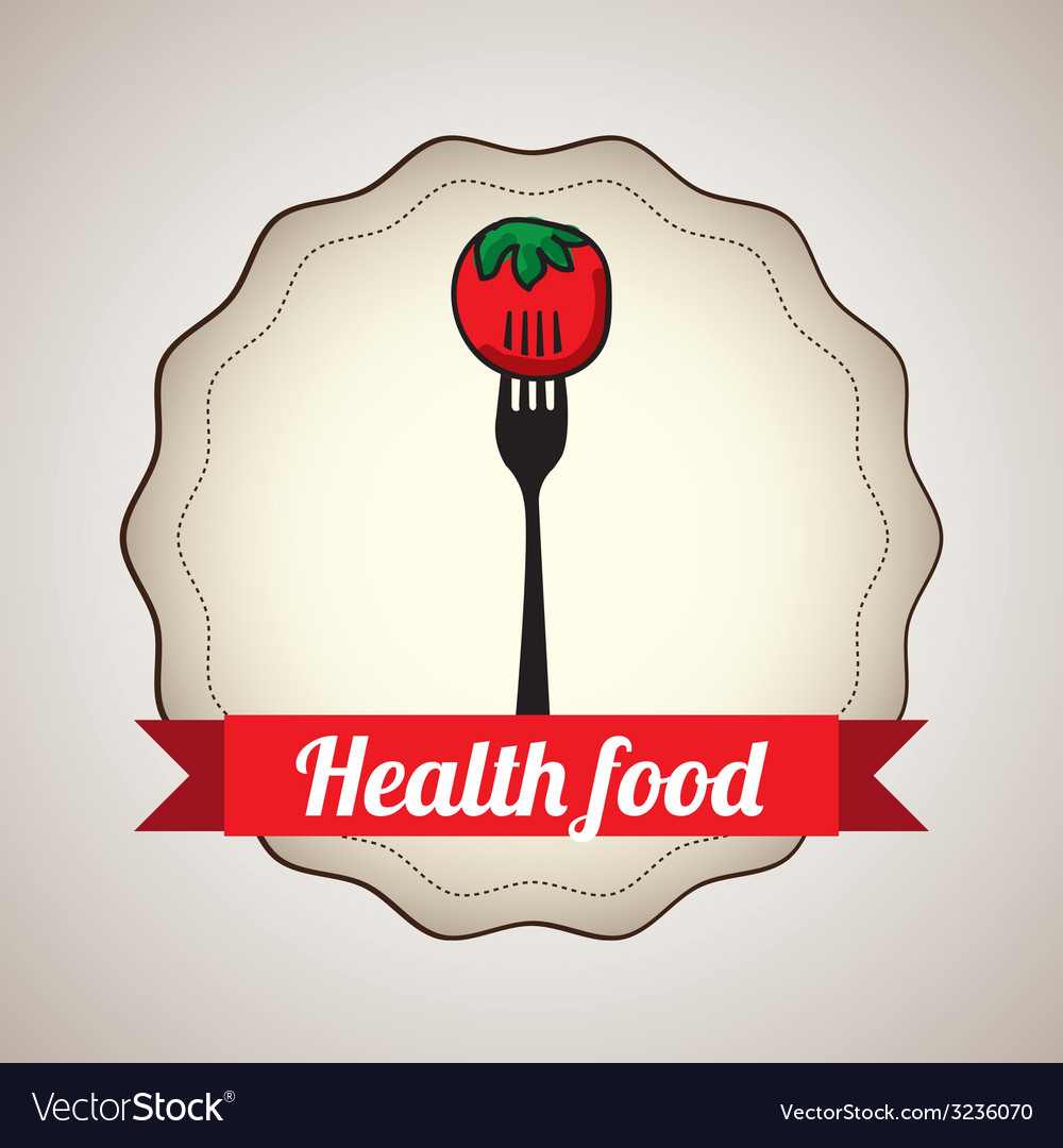 Health food design vector | Price: 1 Credit (USD $1)