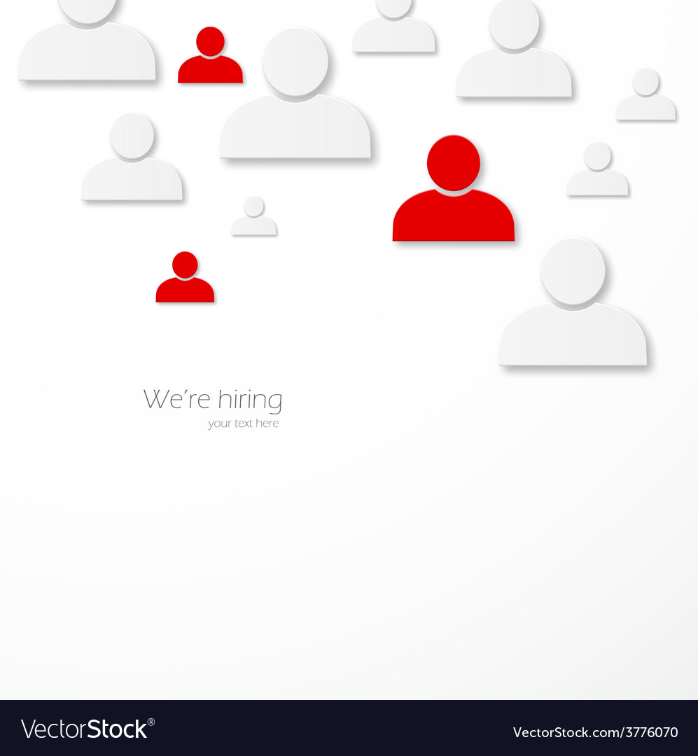 Hiring vector | Price: 1 Credit (USD $1)