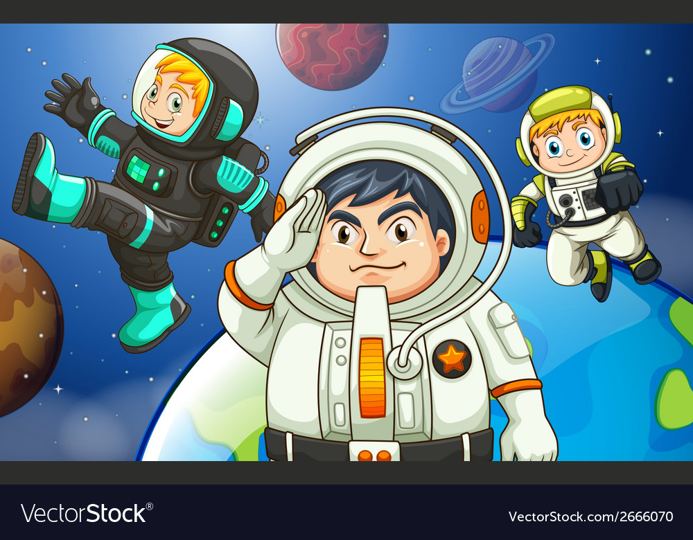 Men in the outerspace vector | Price: 1 Credit (USD $1)