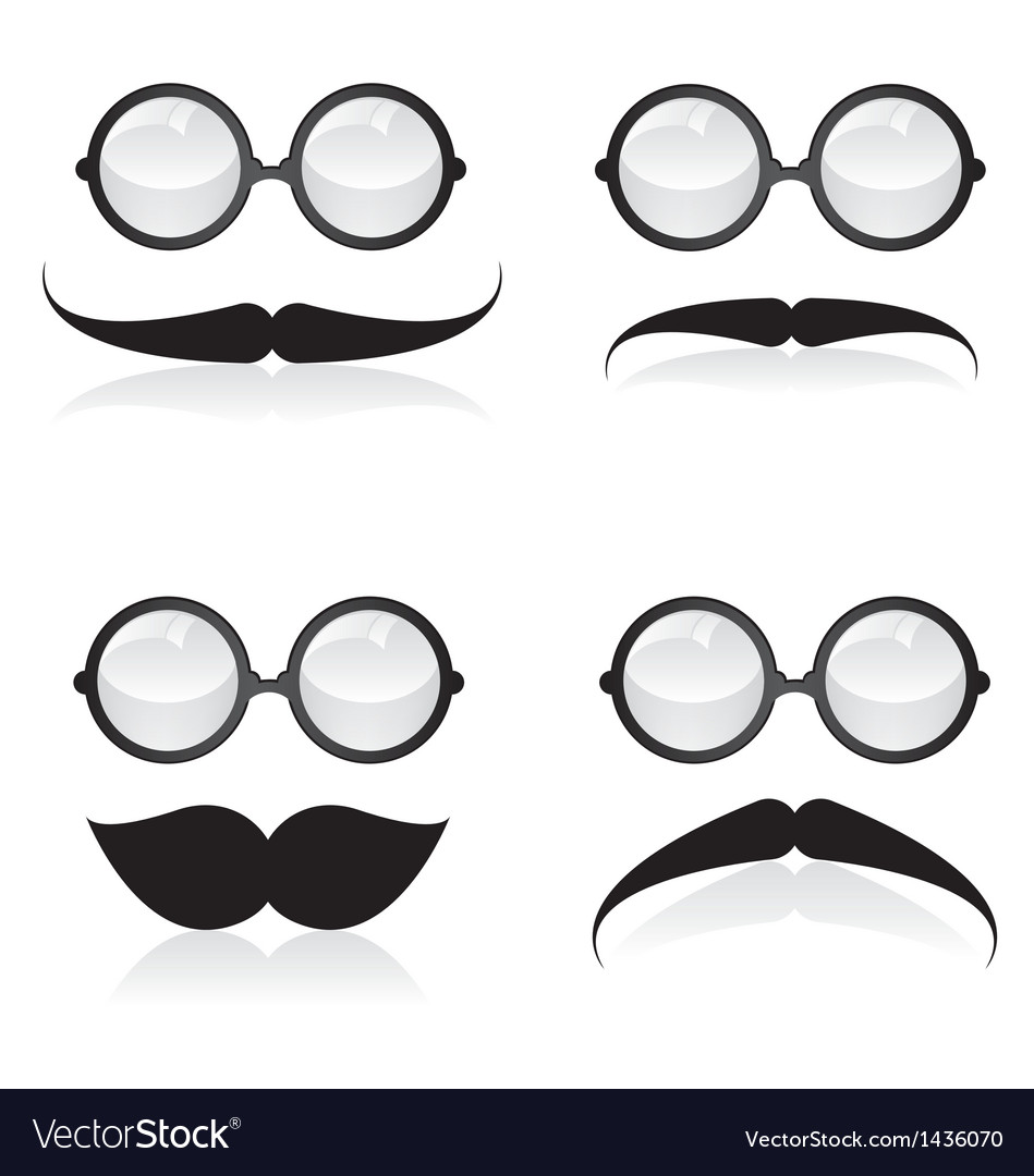 Mustache and sunglasses vector | Price: 1 Credit (USD $1)