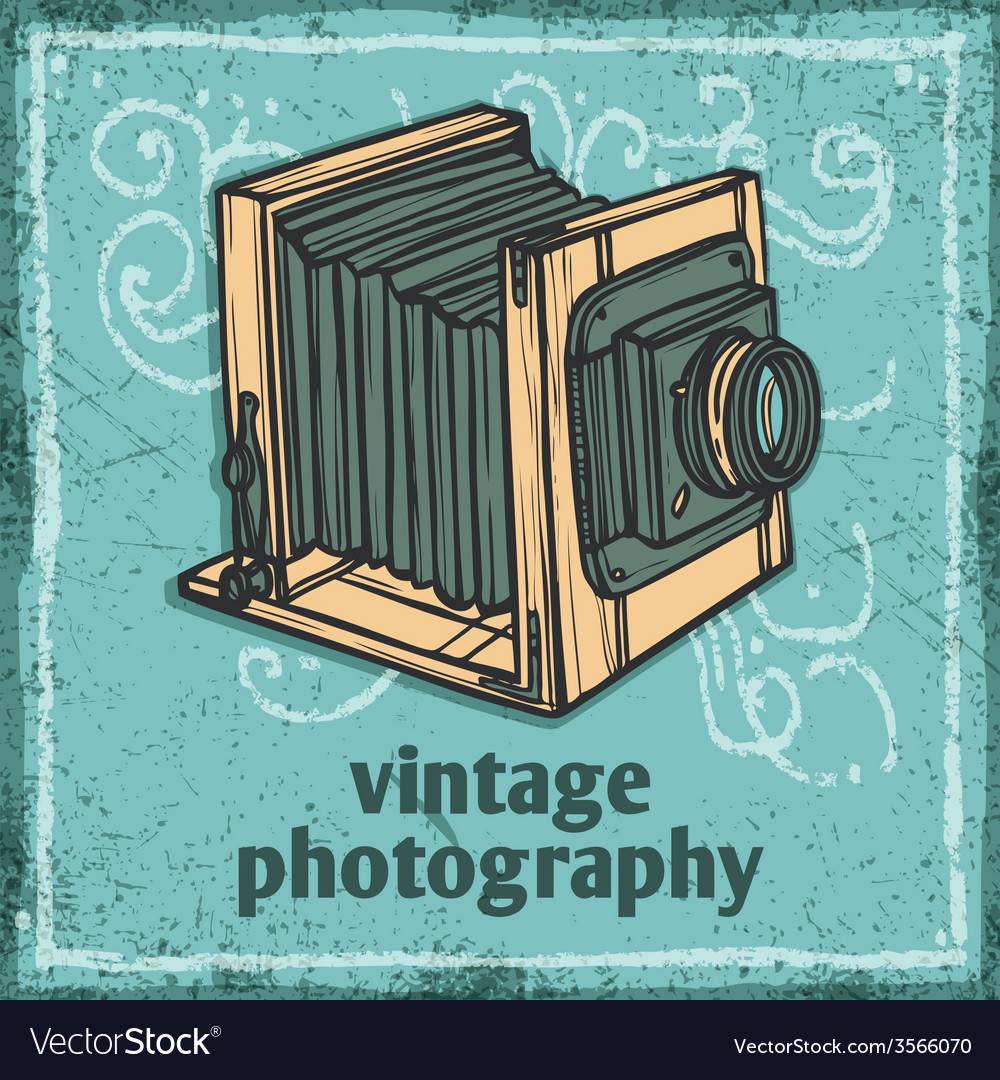 Retro camera poster vector | Price: 1 Credit (USD $1)