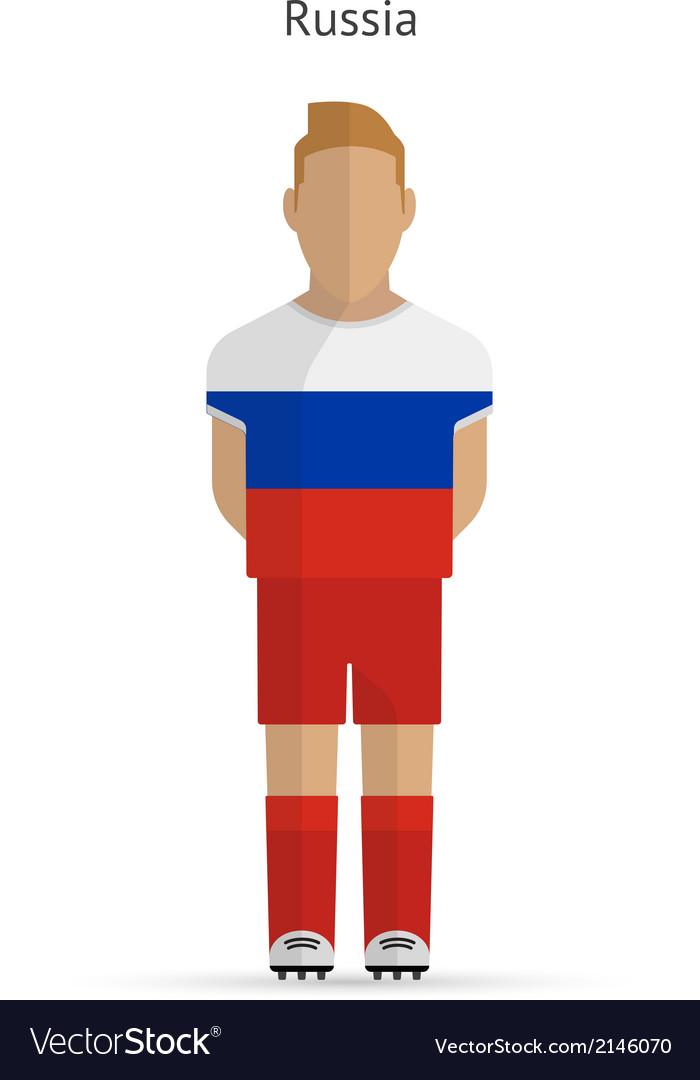 Russia football player soccer uniform vector | Price: 1 Credit (USD $1)