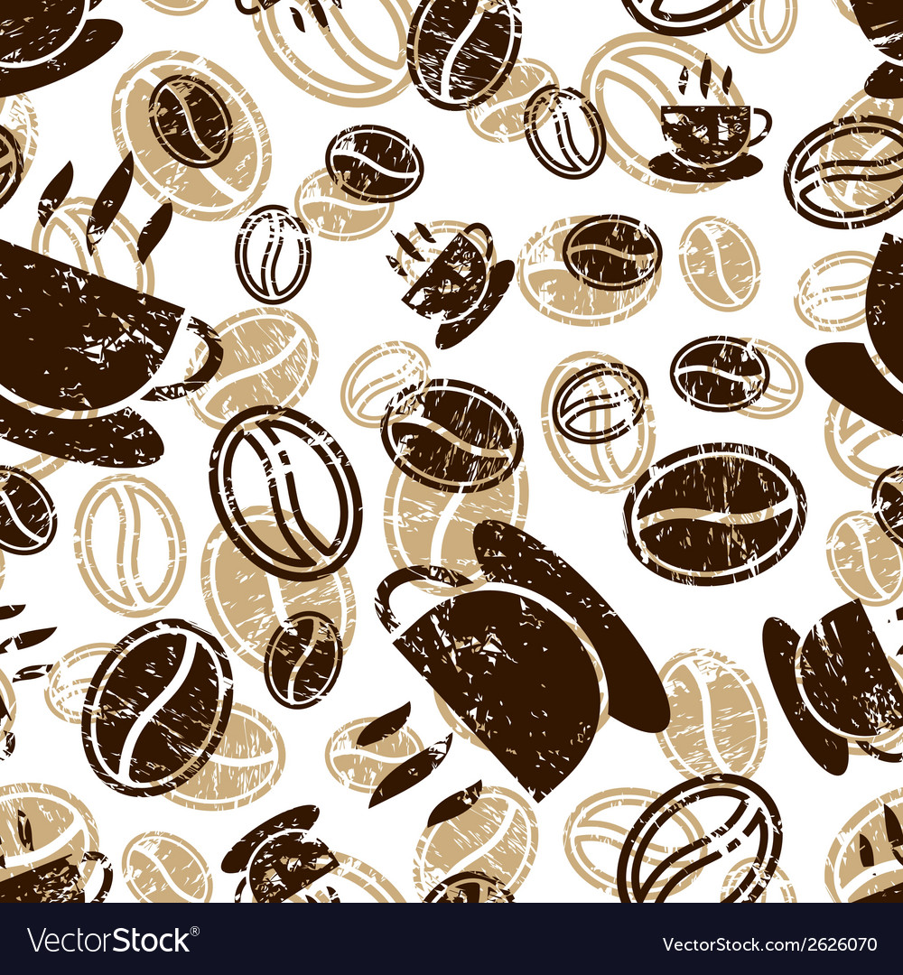 Seamless coffee pattern vector | Price: 1 Credit (USD $1)
