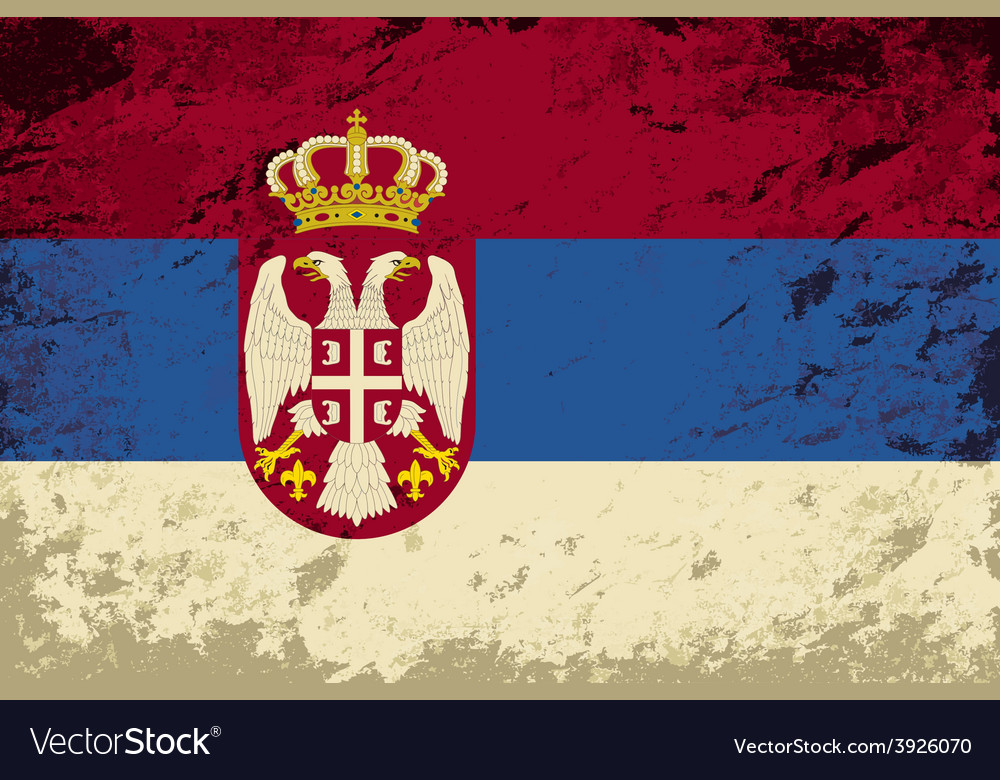 Serbian flag grunge background vector | Price: 1 Credit (USD $1)