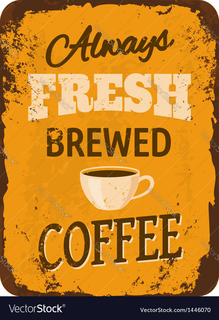 Vintage coffee tin sign vector | Price: 1 Credit (USD $1)