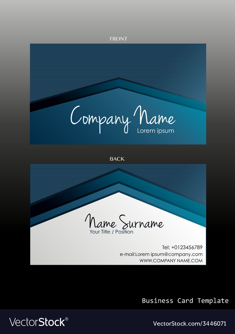 A blue coloured business card vector | Price: 1 Credit (USD $1)