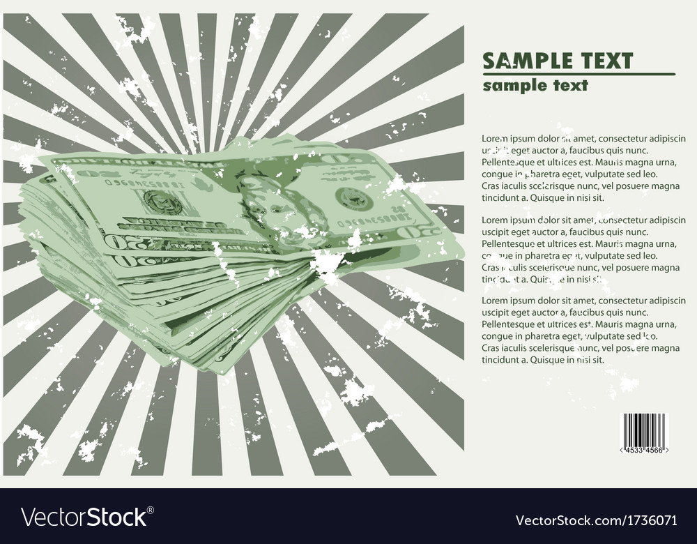 American us dollars currency abstract vector | Price: 1 Credit (USD $1)