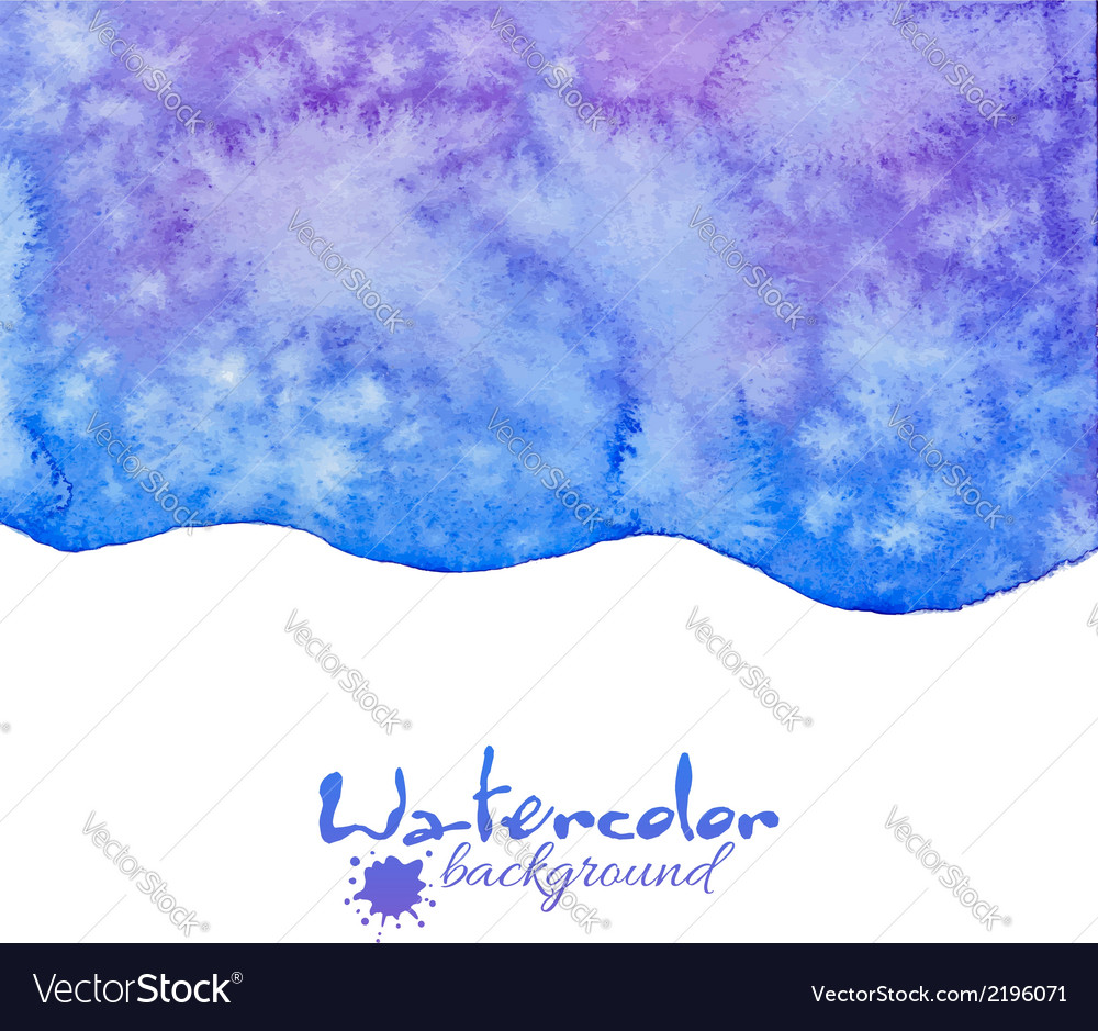 Blue decorative watercolor background vector | Price: 1 Credit (USD $1)