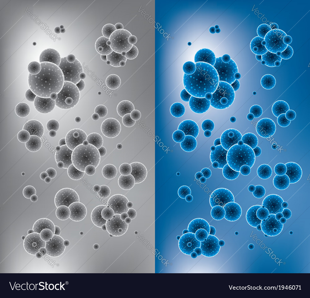 Chemistry backgrounds with molecules vector | Price: 1 Credit (USD $1)
