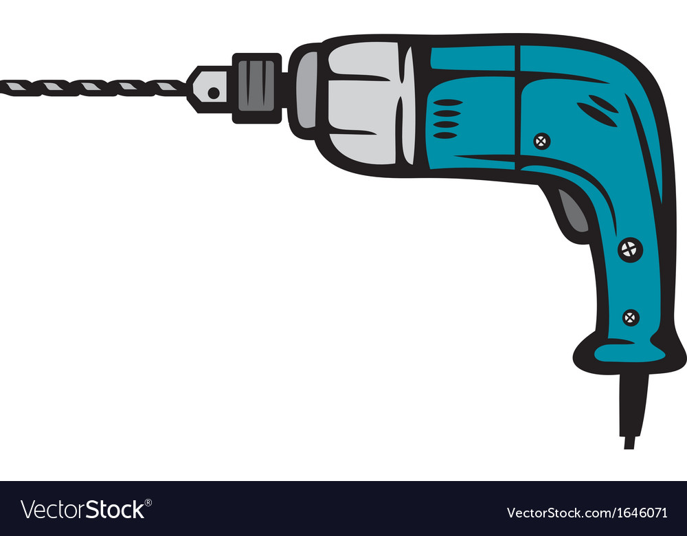 Electric drill vector | Price: 1 Credit (USD $1)