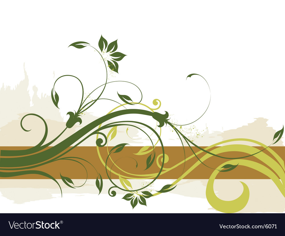 Floral border background vector | Price: 1 Credit (USD $1)