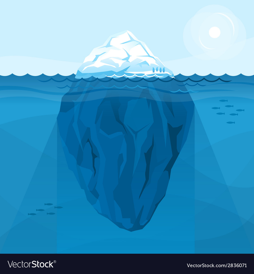 Full big iceberg in the sea vector | Price: 1 Credit (USD $1)