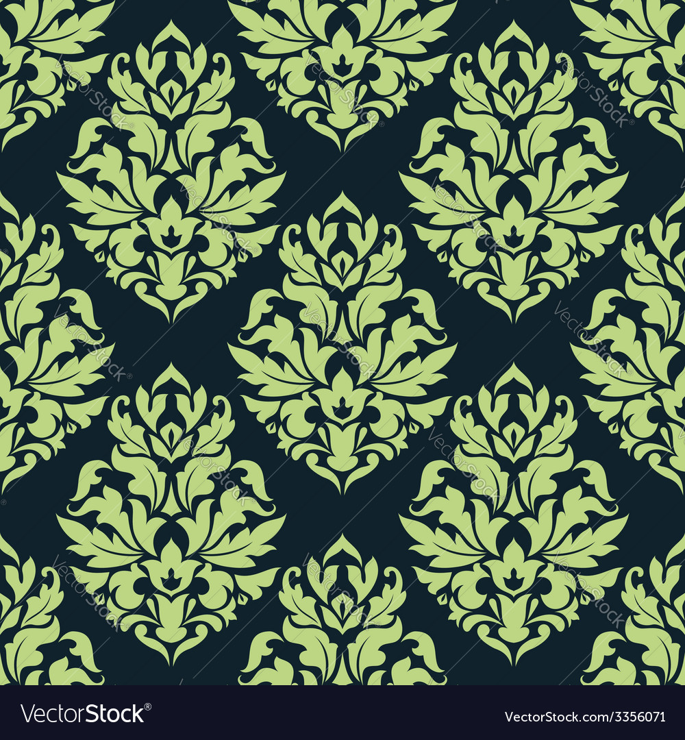 Green floral seamless pattern vector | Price: 1 Credit (USD $1)