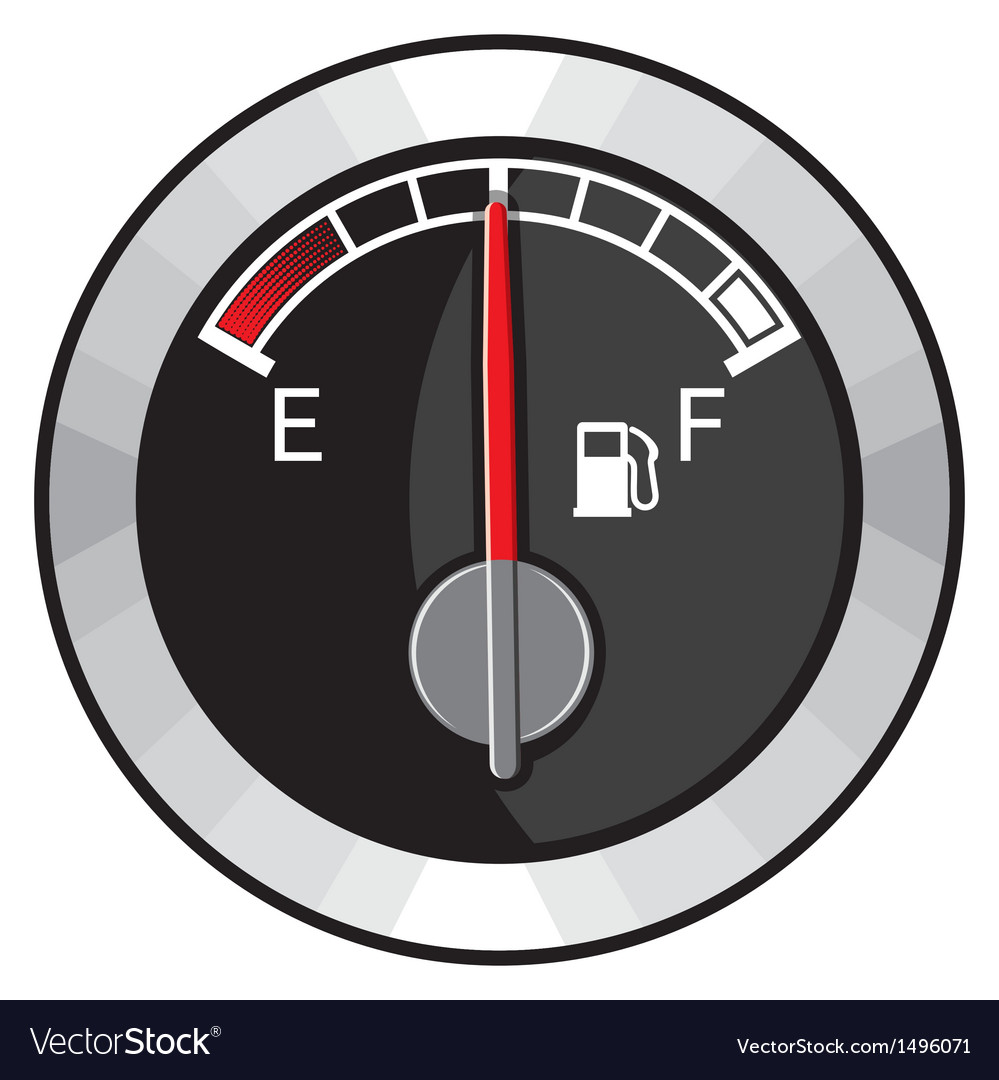 Half gas tank indicator vector | Price: 1 Credit (USD $1)