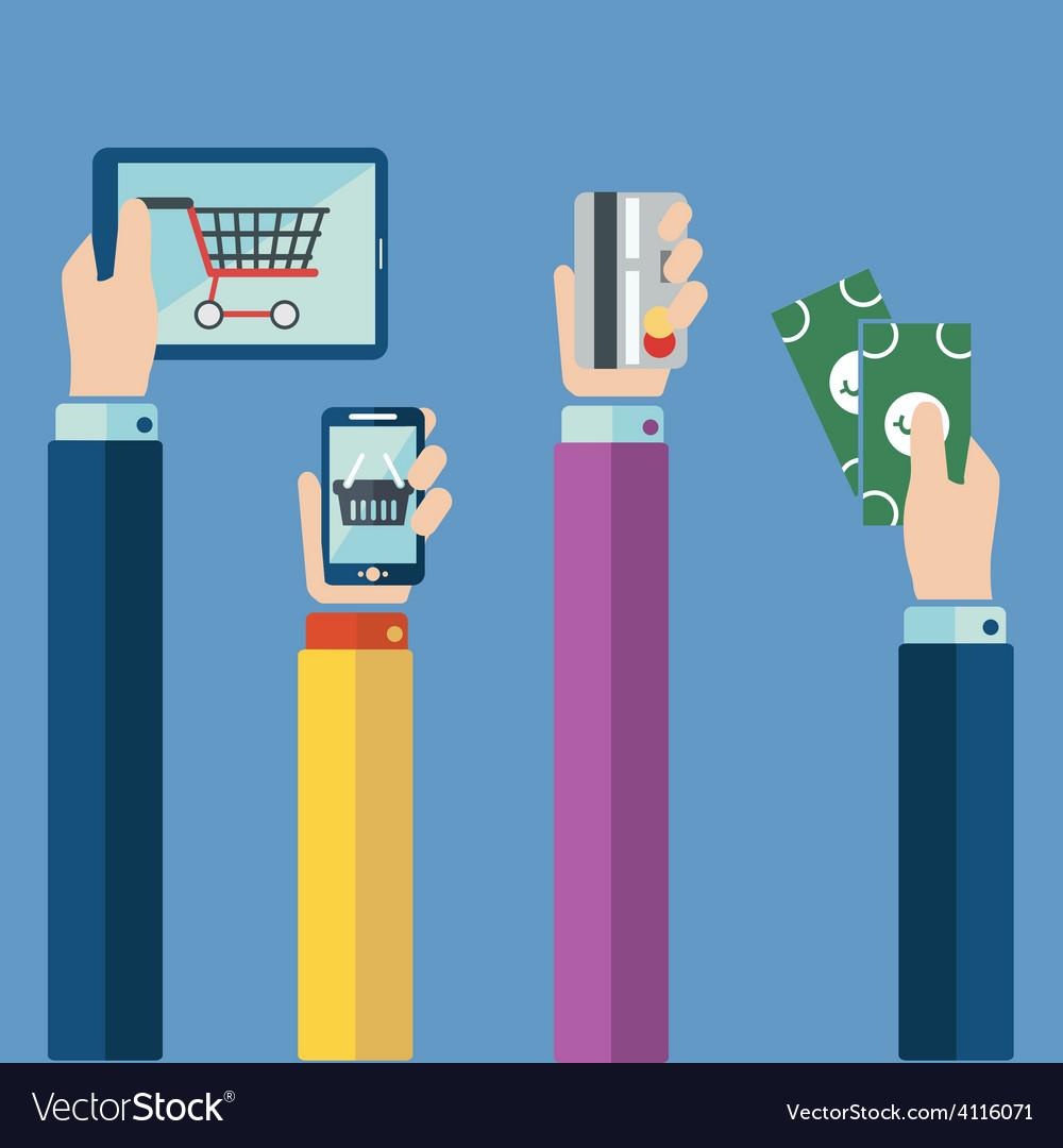 Hands shop vector | Price: 1 Credit (USD $1)