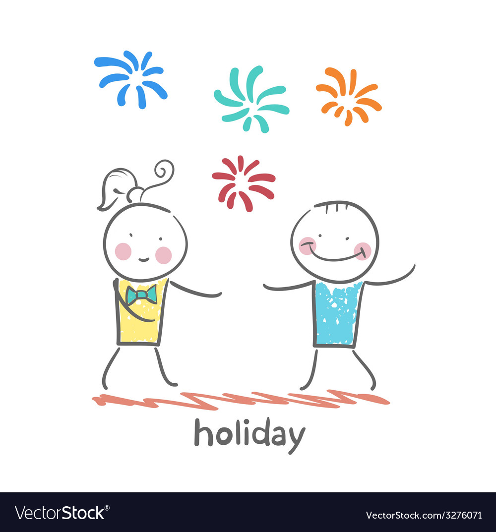 Holiday with colorful fireworks vector   Price: 1 Credit (USD $1)