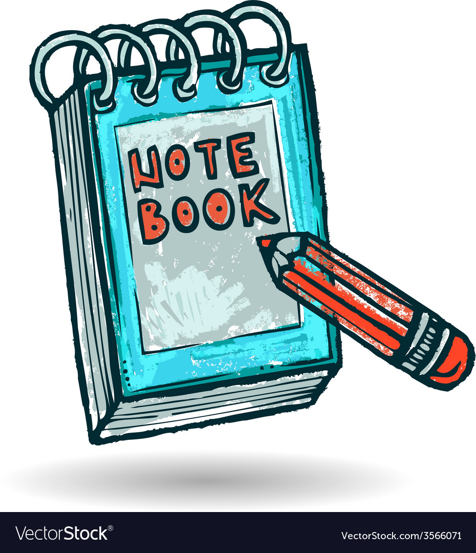 Note book sketch vector | Price: 1 Credit (USD $1)