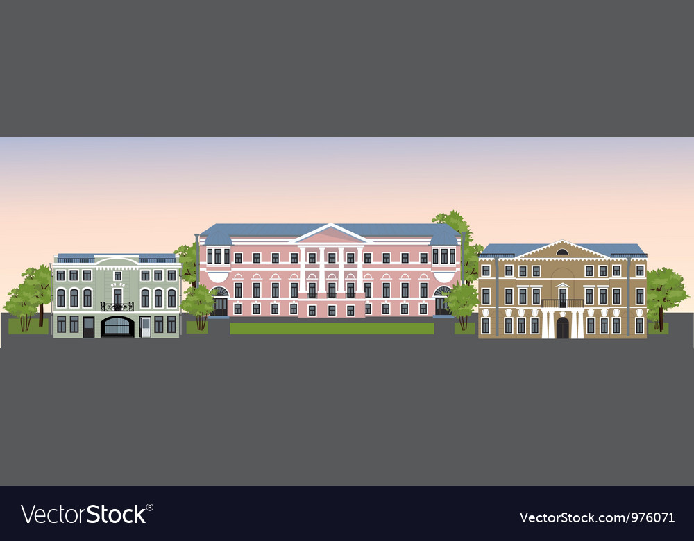 Old town 2 vector | Price: 1 Credit (USD $1)