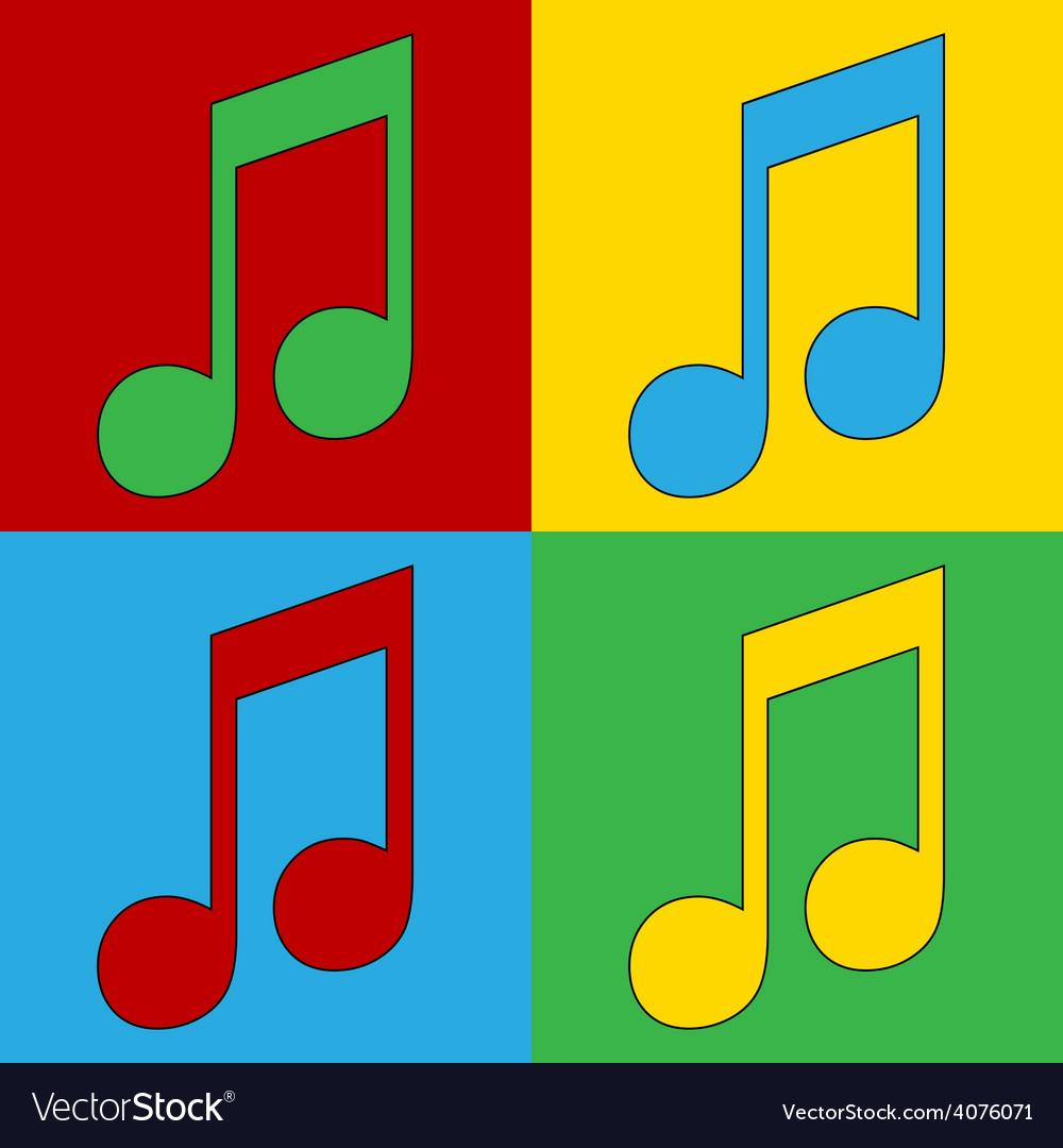 Pop art music icons vector | Price: 1 Credit (USD $1)