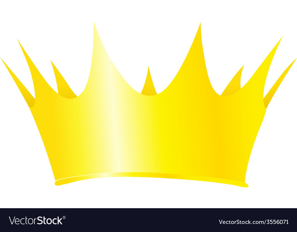 Royal crown isolated on white background vector | Price: 1 Credit (USD $1)