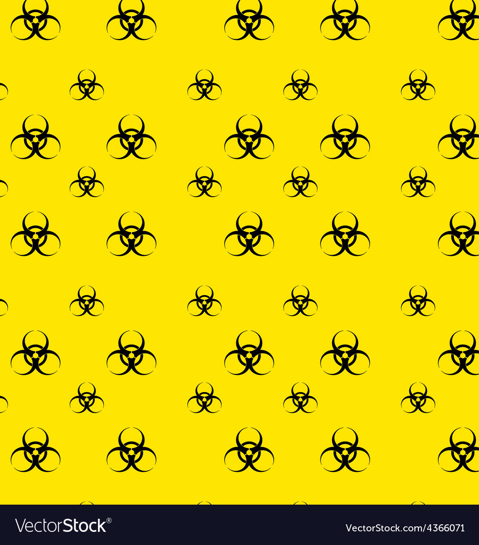 Seamless pattern with bio hazard signs wallpaper vector | Price: 1 Credit (USD $1)