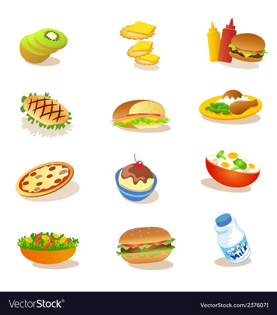 Set of healthy food vector | Price: 1 Credit (USD $1)