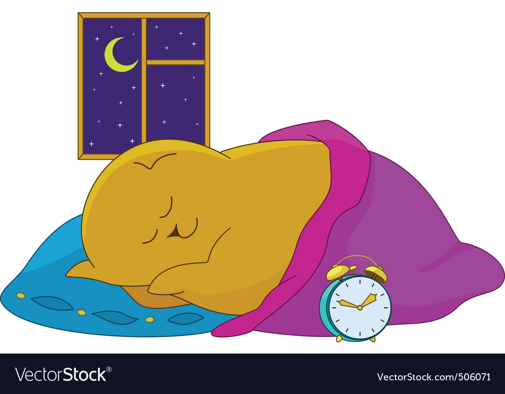Sleeping bear vector | Price: 1 Credit (USD $1)