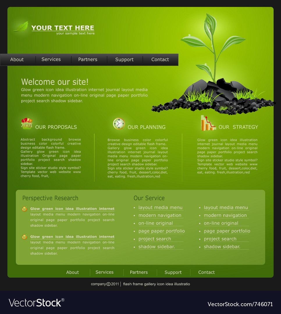 Web site for eco business vector | Price: 3 Credit (USD $3)