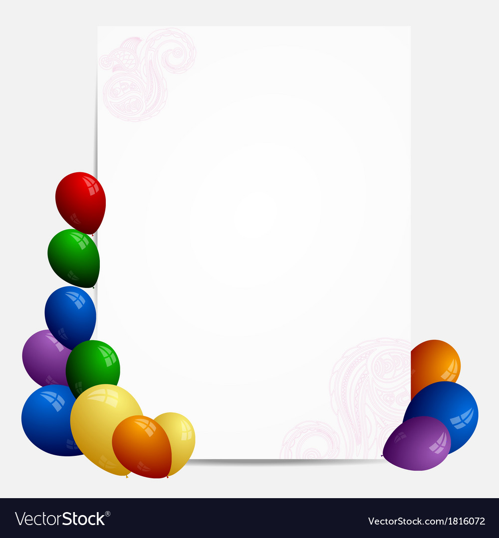 Abstract banner with balloons vector | Price: 1 Credit (USD $1)
