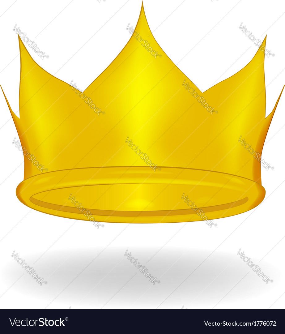 Cartoon crown isolated vector | Price: 1 Credit (USD $1)