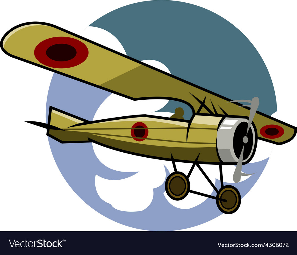 Classic airplane vector | Price: 3 Credit (USD $3)
