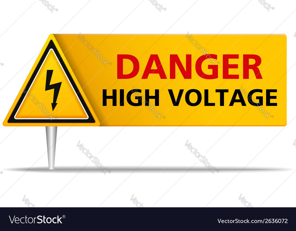 Danger high voltage vector | Price: 1 Credit (USD $1)
