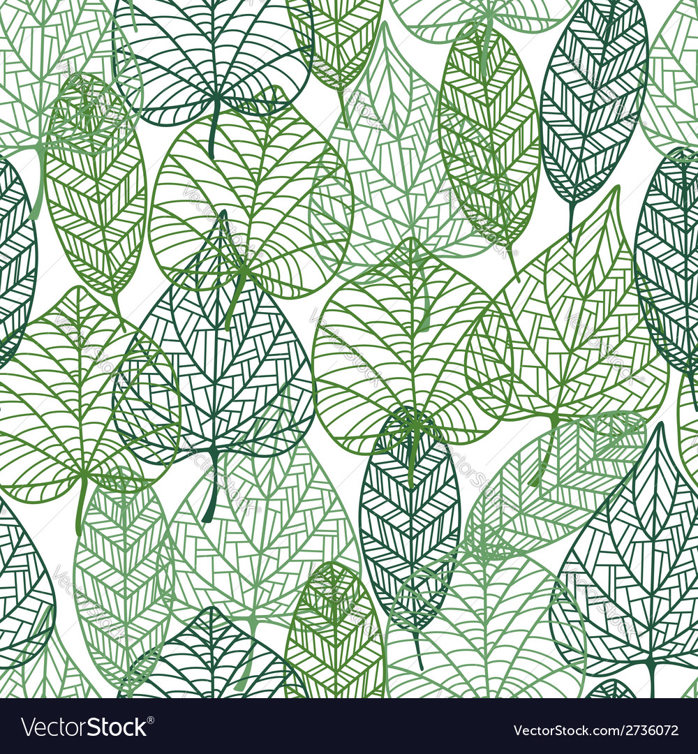 Green leaves seamless pattern vector | Price: 1 Credit (USD $1)