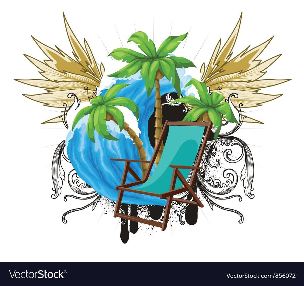Grunge summer emblem vector | Price: 1 Credit (USD $1)