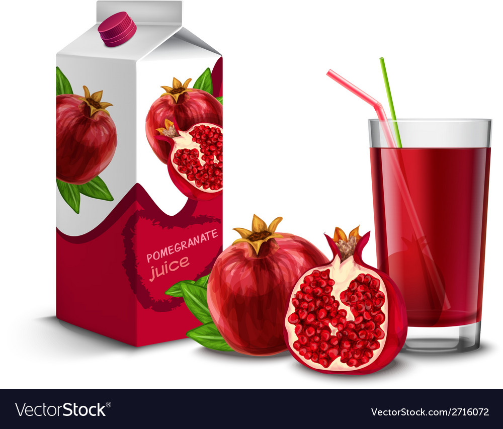 Pomegranate juice set vector | Price: 1 Credit (USD $1)
