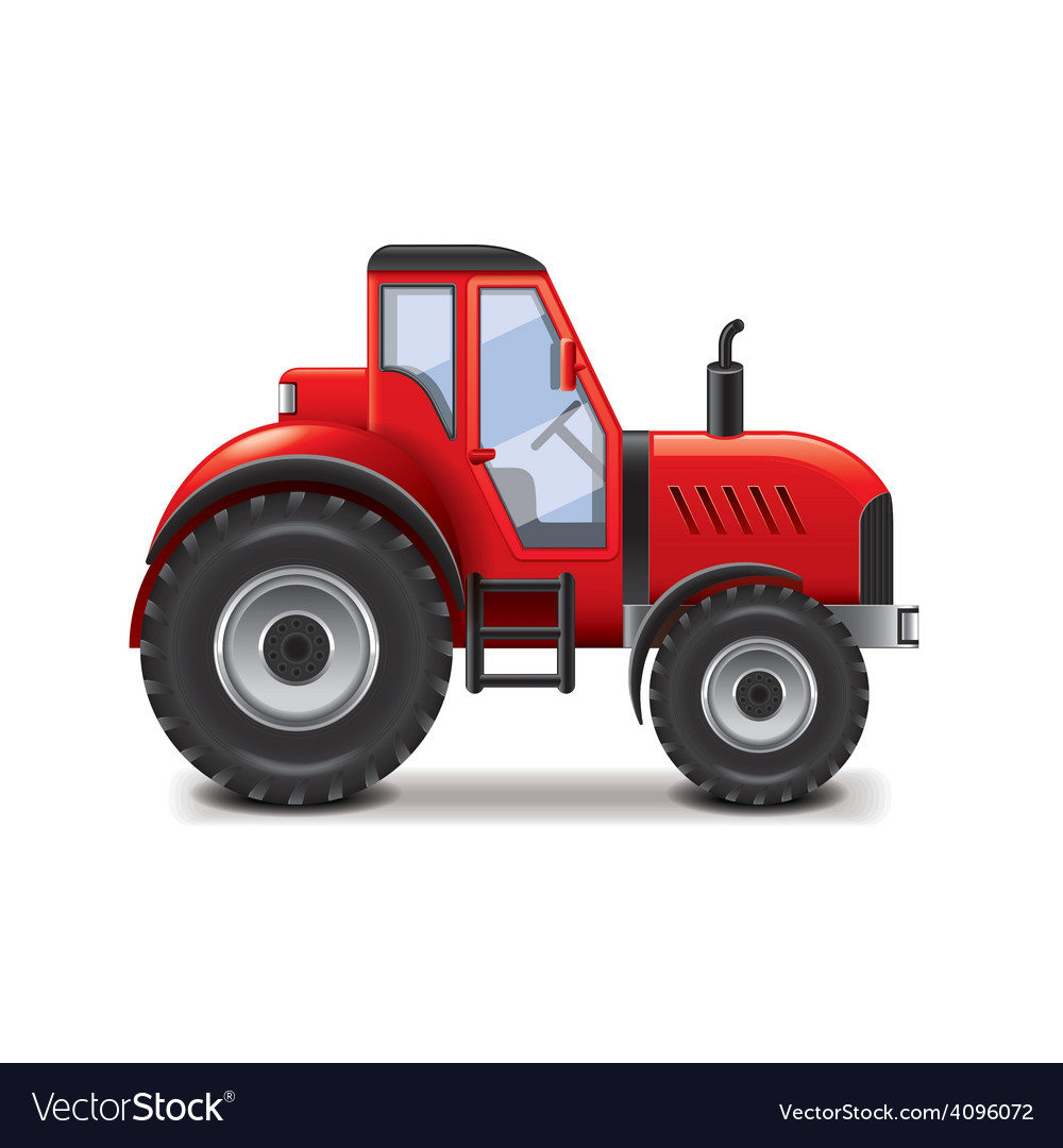 Tractor isolated vector | Price: 3 Credit (USD $3)