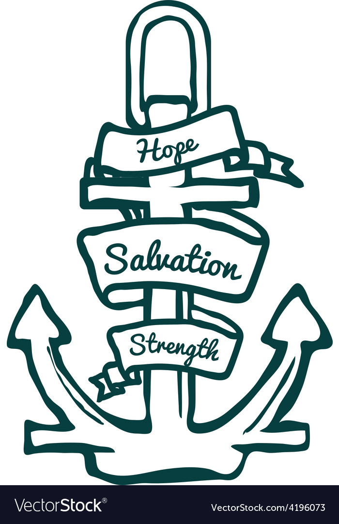 Anchor with banner vector | Price: 1 Credit (USD $1)