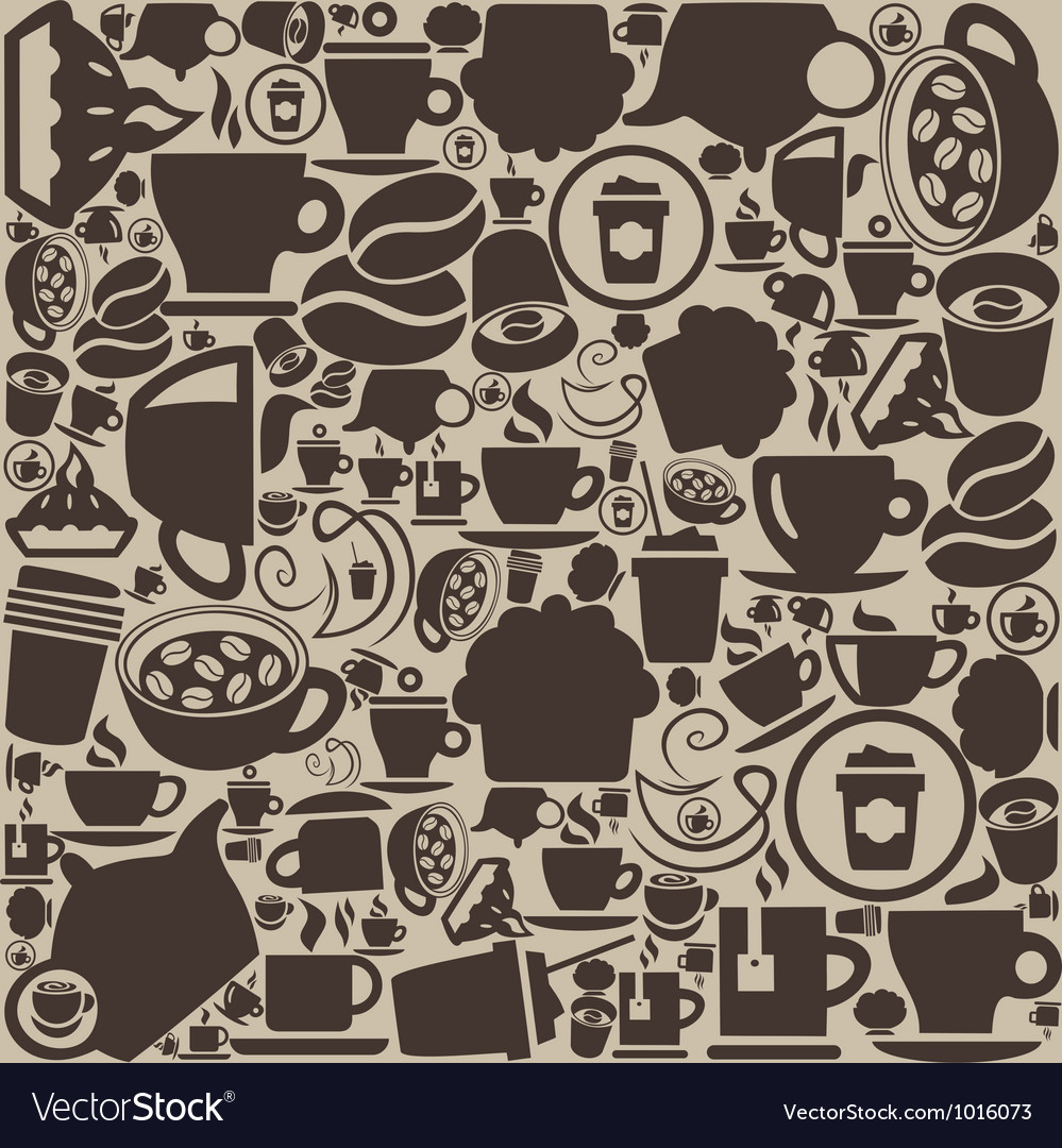 Background coffee vector | Price: 1 Credit (USD $1)