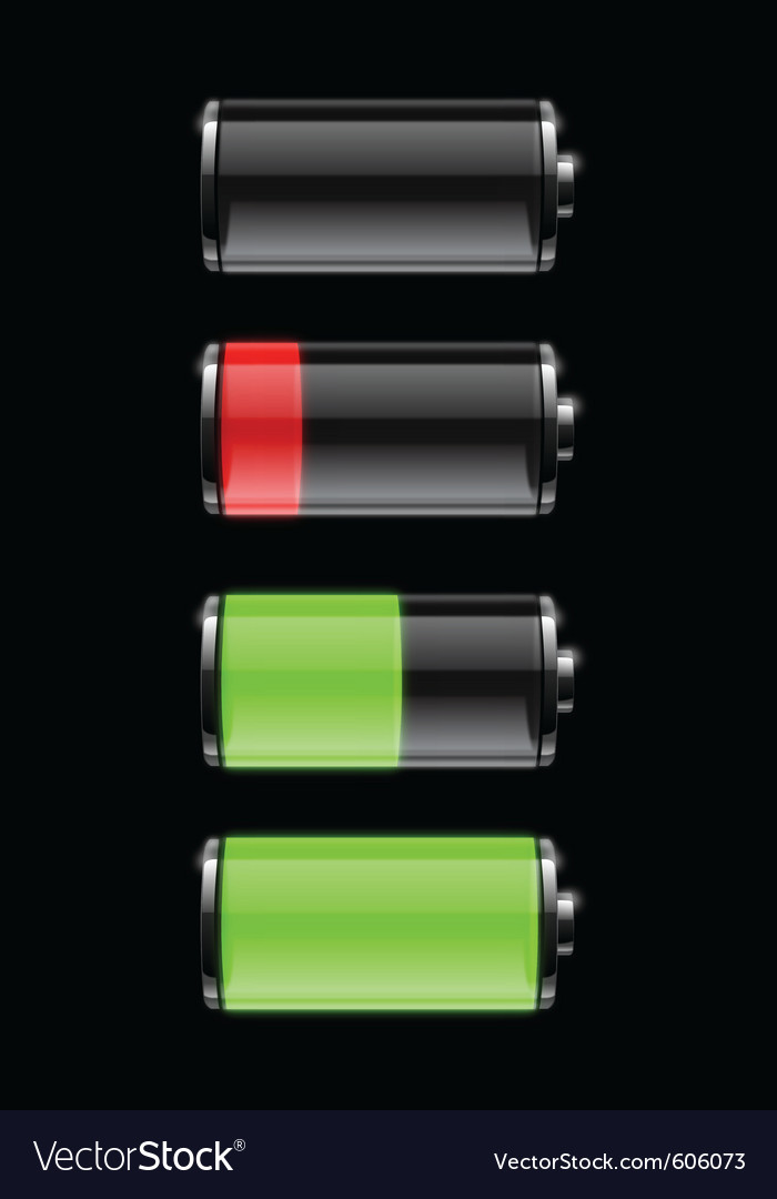 Battery life vector | Price: 3 Credit (USD $3)