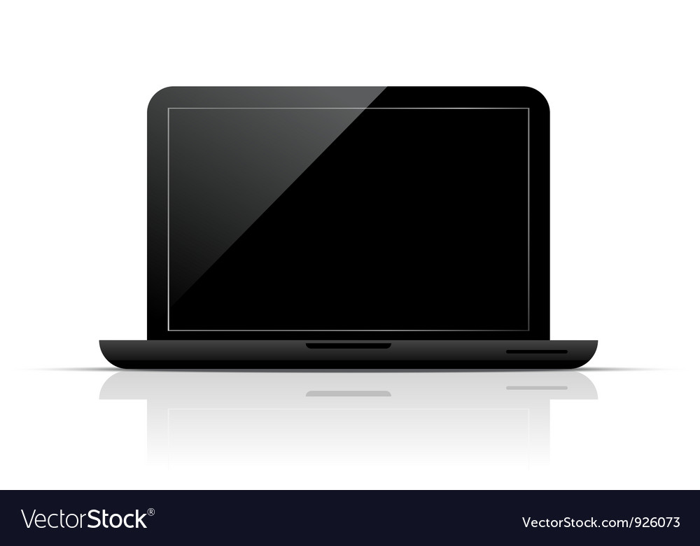 Black laptop vector | Price: 3 Credit (USD $3)